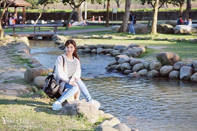 桃園免費親子景點》戲水渠道×湖光山色~大草坪玩水野餐去!