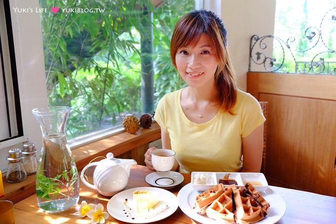 桃園龍潭【山景湖水岸景觀餐廳】下午茶很美味❤婚紗取景祕密花園、大草皮~石門水庫美食