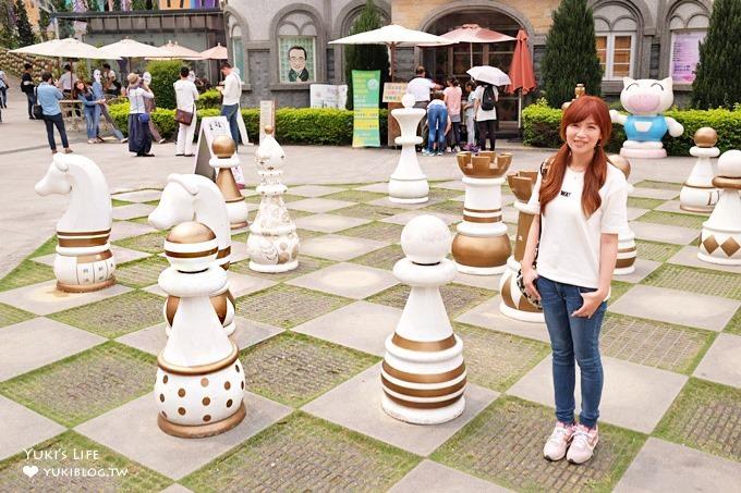 南投埔里免費景點【大黑松小倆口元首館】超大西洋棋主題城堡×日月潭附近景點