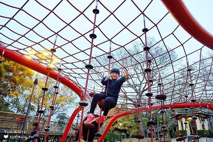 台中必朝聖免費親子景點》鰲峰山運動公園(競合體驗遊戲場)遊玩攻略全公開!