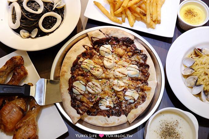 板橋美食【PIZZA FUN披薩坊平價披薩吃到飽】薯條、蜜汁烤雞腿無限享用.也有現炒義大利麵