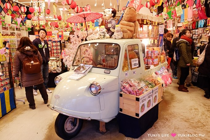 大阪【いちびり庵】道頓堀可愛伴手禮專賣店.有小車車在店裡(戰利品)
