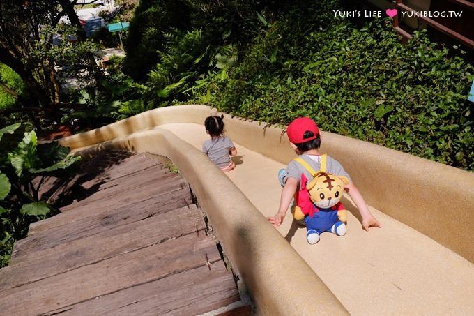 新竹景点《森林鸟花园》森林系彩虹溜滑梯×水池×玩沙池×鸟园小动物~亲子一日游好去处! - yukiblog.tw