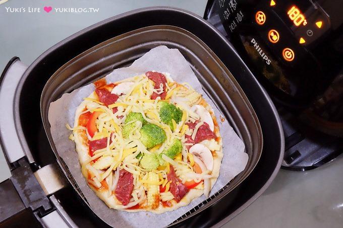 開箱【PHILIPS飛利浦免油健康氣炸鍋】烤pizza、烤蛋糕、韓式炸雞、氣炸鍋料理樣樣自己來! (HD9240家庭5人份大容量)