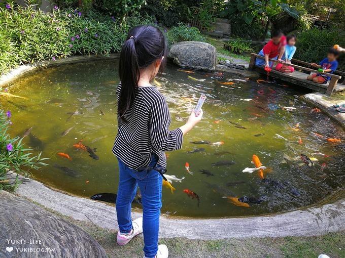 彰化田尾親子景點【全得玫瑰莊園】歐風浪漫建築景觀餐廳×草皮沙坑溜滑梯還能餵魚 - yukiblog.tw