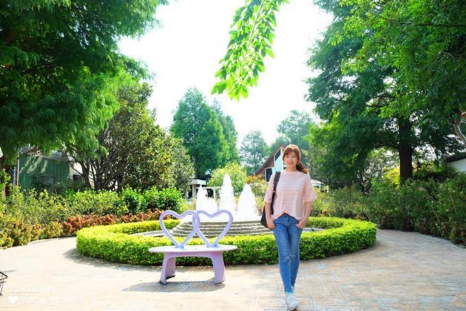 彰化田尾親子景點【全得玫瑰莊園】歐風浪漫建築景觀餐廳×草皮沙坑溜滑梯還能餵魚