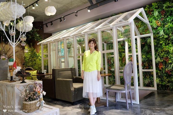 桃園美食【梳子Salud】藝文特區花花世界玻璃屋蔬食餐廳×IG風拍照熱點(停車方便)