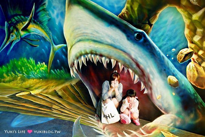 宜蘭新景點【祝大漁物產文創館】360度3D魚龍捲立體海洋隧道+阿帕契彩繪親子遊@南方澳