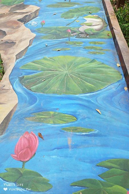 新竹最新3D彩繪步道拍照景點【峨眉湖步道】跟著巨型橘子來趟急流水道之旅(峨眉湖停車場) - yukiblog.tw