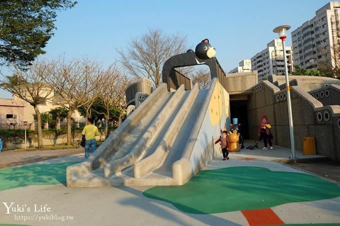 桃園景點【玉山公園】落羽松大道×黑熊溜滑梯~大草皮野餐親子景點 - yukiblog.tw