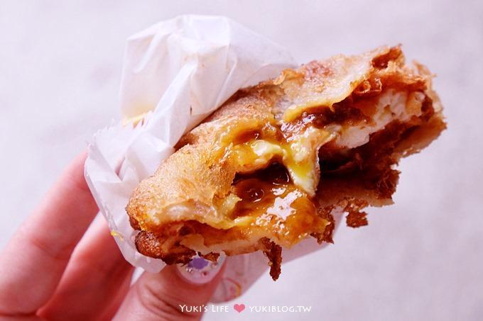 花蓮美食┃炸蛋蔥油餅(正宗黃色發財車) &花蓮JOE石板香腸 ~ 精選小吃