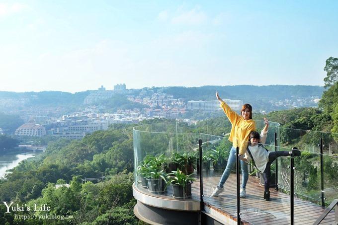 新竹景點【101高山頂景觀餐廳】環狀透明觀景台IG美拍點×青草湖夜景餐廳