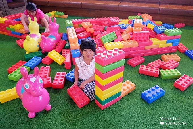 基隆親子餐廳【Artr八斗子海科館彩繪餐廳】主打大積木vs自由彩繪的室內兒童遊戲區