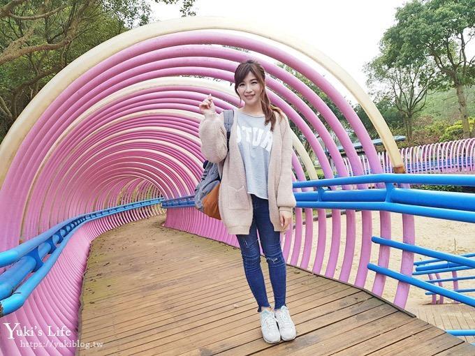 桃園秘境》粉紅隧道大沙坑×賞櫻木棧道(野餐、室內游泳池親子景點)