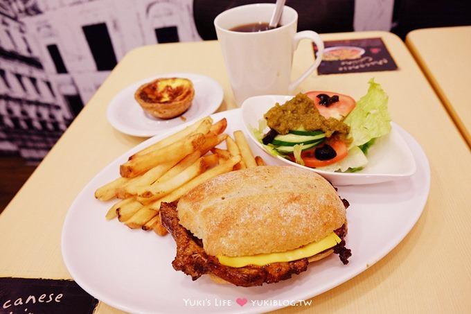 【永康街美食】Mactugal澳譽葡澳門豬扒包‧與法國麵包的結合❤(近東門站)
