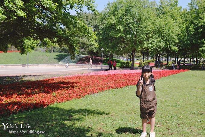 桃园景点【大溪埔顶公园】花海大草皮×亲子景点 溜滑梯野餐好去处!(交通玩法攻略图) - yukiblog.tw