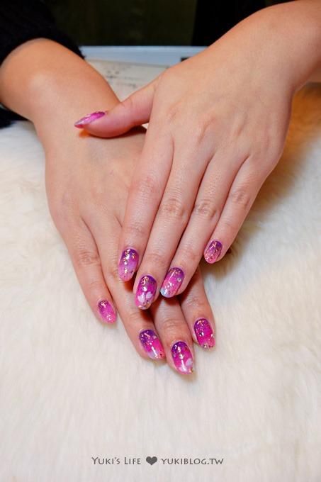 光療指甲【板橋花季美甲】櫻花瓣紫色和風款&蝴蝶結甜美風款&夏季藍沙清涼款