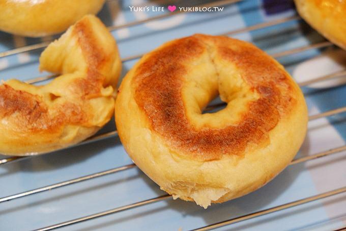 新手烘焙【原味貝果&起士貝果】簡單揉一揉就可以啦~~ - yukiblog.tw