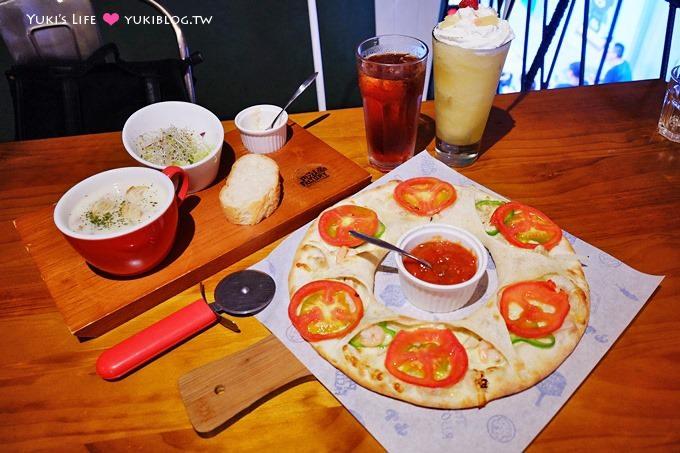 台中【Pizza Factory披薩工廠】沙坑×平價披薩餐廳~有甜甜圈pizza、派大星pizza(中科店)親子聚餐推薦餐廳