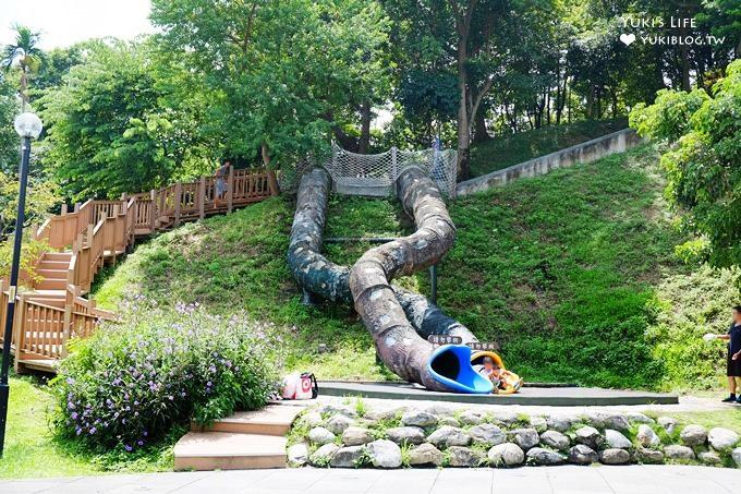 新北中和免費親子景點【錦和運動公園】超長溜滑梯×兒童遊樂區×運動野餐好去處 - yukiblog.tw