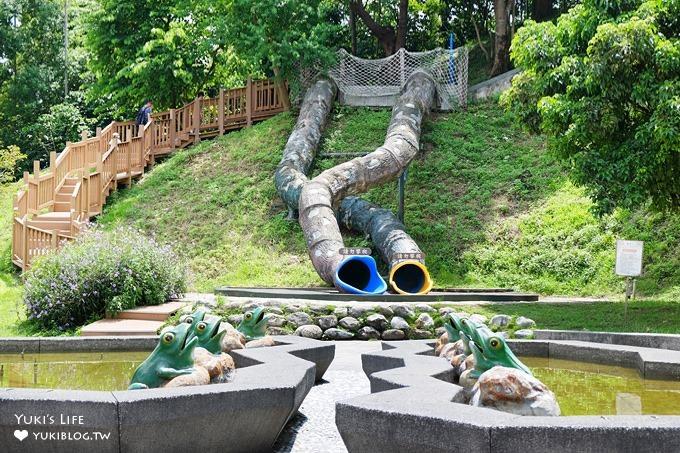 新北中和免費親子景點【錦和運動公園】超長溜滑梯×兒童遊樂區×運動野餐好去處
