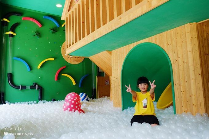 新北林口親子好去處【樹屋親子餐廳】高質感球池空間設計×美味日式料理(室內景點)