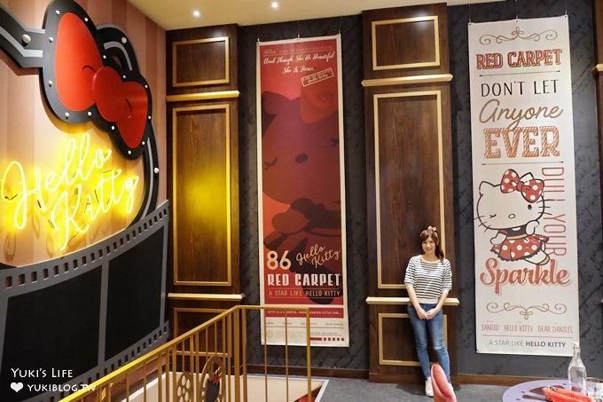 三井outlet【Hello Kitty Red Carpet美式餐廳】夢幻Kitty樂園拍照去×雨天室內景點!〈機場捷運林口站A9美食〉 - yukiblog.tw