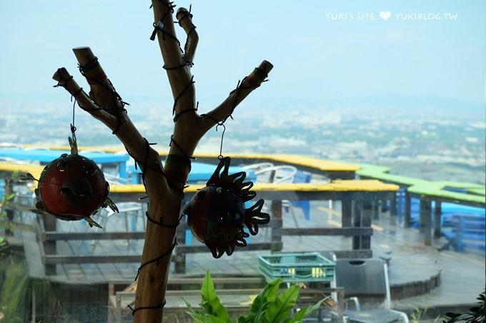 桃園景點【白圍牆地中海景觀咖啡】乳姑山景色超美親子草皮溜滑梯餐廳×親子好去處 - yukiblog.tw
