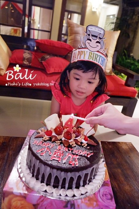 峇里島親子行【小西瓜四歲】屬於小西瓜的生日蛋糕、生日記錄❤ - yukiblog.tw