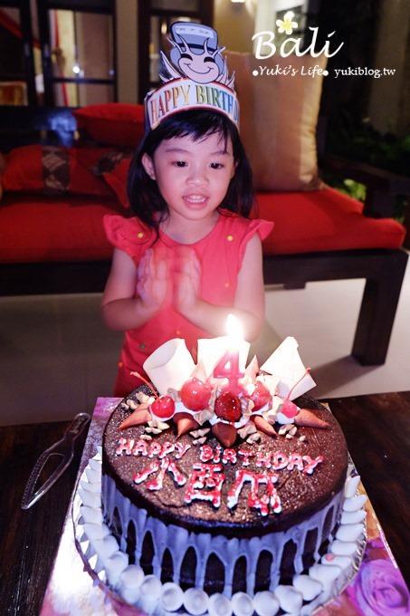 峇里島親子行【小西瓜四歲】屬於小西瓜的生日蛋糕、生日記錄❤