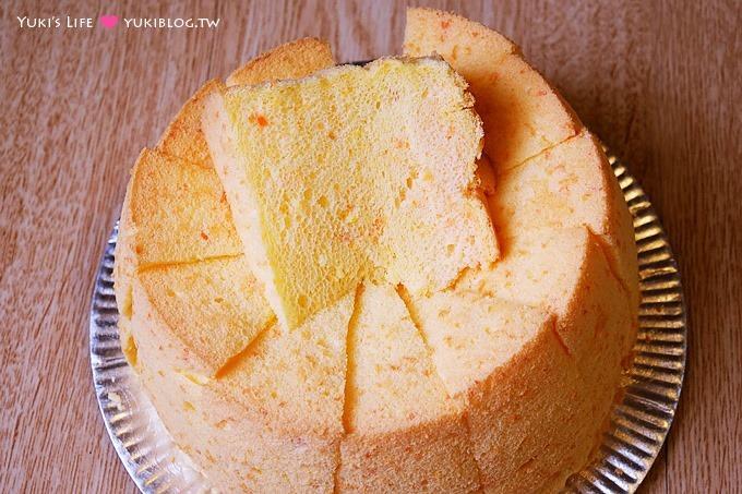新手烘焙【紅蘿蔔戚風蛋糕】軟綿綿的兔子口味蛋糕.沒有紅蘿蔔腥味.健康營養❤ - yukiblog.tw