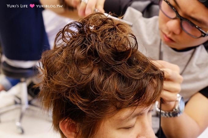 東區髮妝【M:激賞髮型】老公韓系燙髮 & 我的橘色亮系染髮、離子燙 @忠孝敦化站