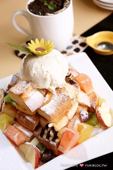 板橋下午茶┃BELLA Cafe●蜜糖土司×鹹口味貝果披薩 @板橋火車站、捷運站
