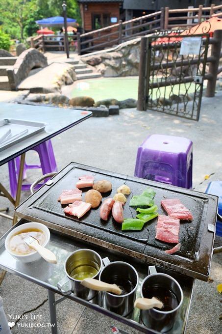 台北親子好去處【緹閣休閒溫泉會館】山泉水泳池玩水、烤肉、泡湯、溪邊戲水 - yukiblog.tw