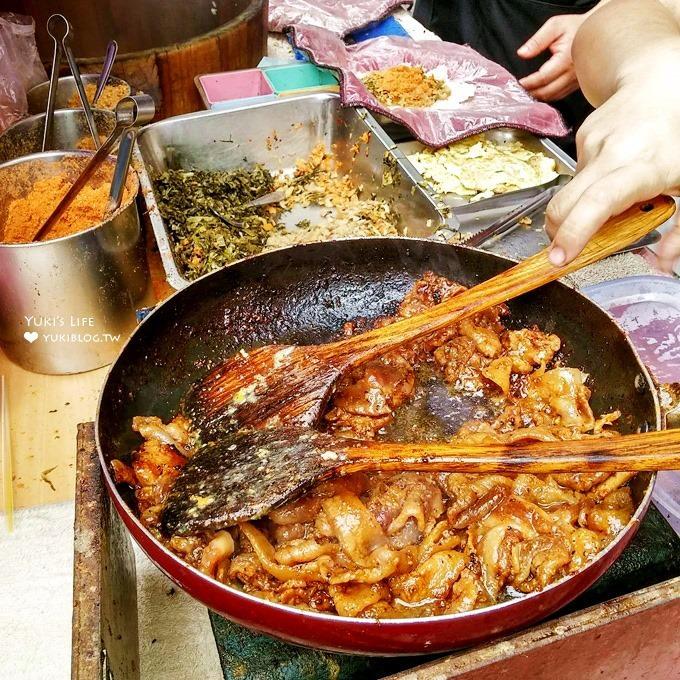強大飯糰推薦【劉家飯糰】有燒肉及香煎雞腿豪華配料的紫米飯糰×樹林美食@樹林火車站排隊美食(同場加映農會旁小籠湯包)