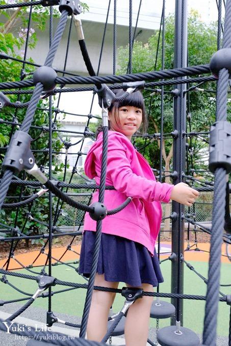 新北特色公園《林口樂活公園》捷運主題遊戲場×快速滑梯、高塔爬網、便利商店小老闆~等著大家來玩 - yukiblog.tw