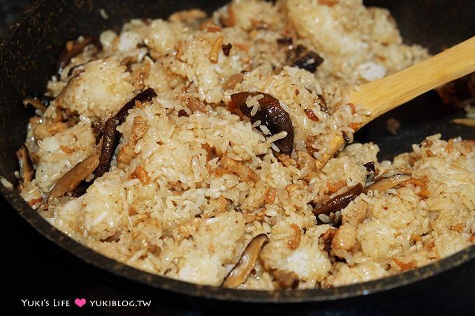 廚房習作【簡單油飯DIY】家庭版香Q好吃油飯.自己做不難喲~~❤ - yukiblog.tw