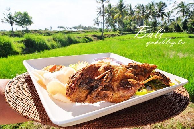 巴里島/峇里島烏布美食推薦【BHANUSWARI髒鴨餐】稻田景觀特色風味料理