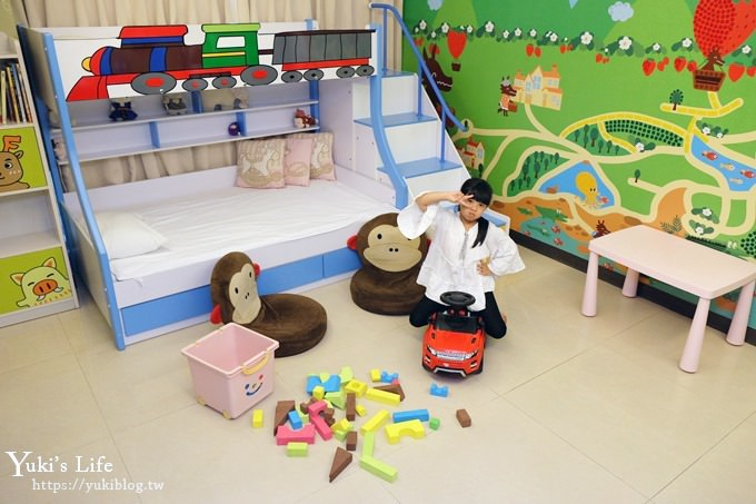 高雄亲子住宿【宫赏艺术大饭店】主题房型、免费下午茶、儿童游戏室(美丽岛站十分钟)