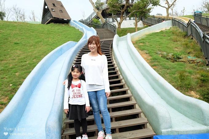 新竹免費親子景點【青青草原】超長彩色磨石子溜滑梯×踏青野餐好去處