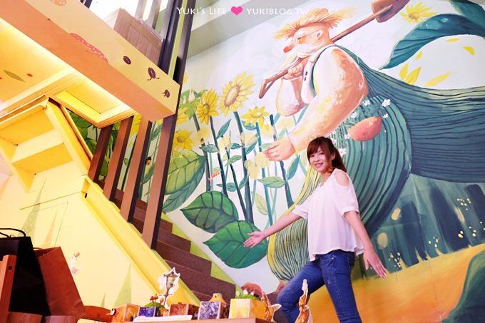 台中【七個醫師的咖啡】全館療癒系畫風彩繪咖啡館(西區近綠園道)