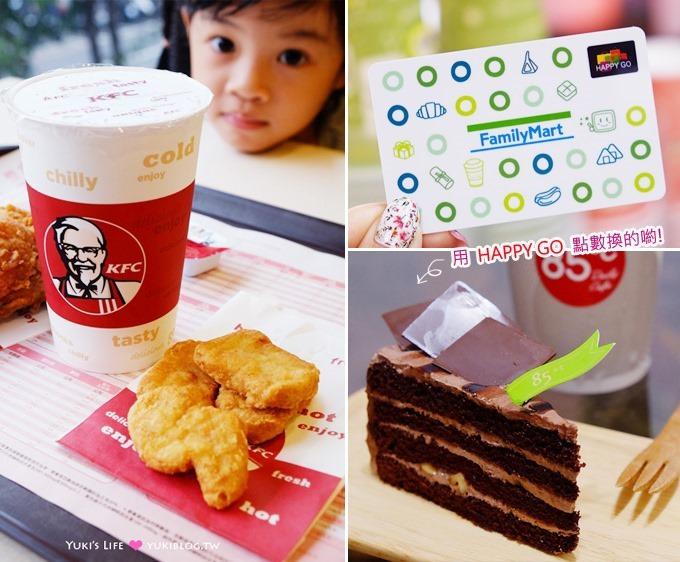 分享【HAPPY GO點數兌換攻略】辦卡、使用心得.免費吃喝省錢小幫手❤