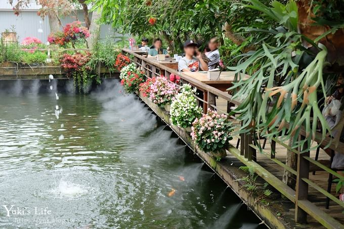 苗栗景點【花露休閒農場】四季都美的魚池景觀下午茶×精油館新開幕、親子景點、景觀餐廳、網美景點 - yukiblog.tw