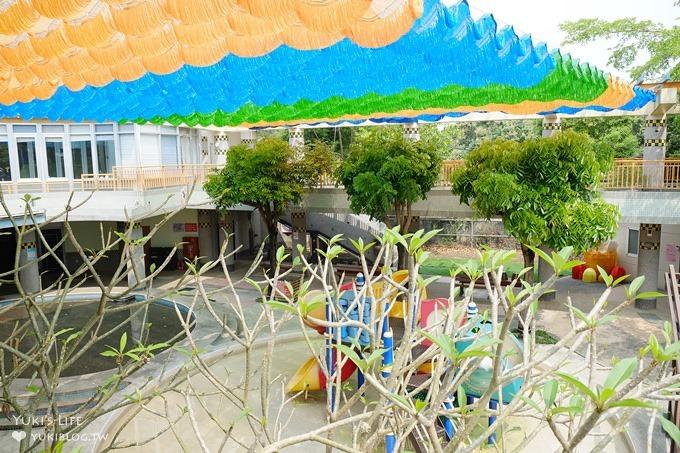 彰化芬園親子景點【就是愛荔枝樂園】夏天玩水去!天空闖關主題體健設施×大草皮奔跑野餐場地 - yukiblog.tw