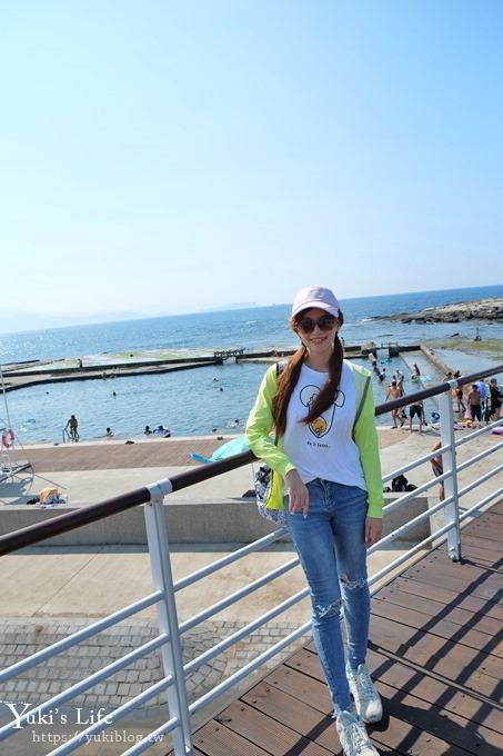 新!基隆景點【和平島公園】堆沙堡超大沙灘親子景點×天然海泳池、親親兒童戲水池~