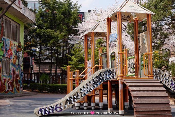 韓劇景點【弘大壁畫街/弘大畢卡索街】散步完再去吃小吃吧! - yukiblog.tw