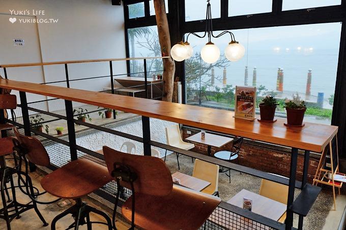 台北【留夏咖啡Stay-cafe】看海工業風咖啡廳×看海餐廳(就在三芝草泥馬伊亞咖啡旁)