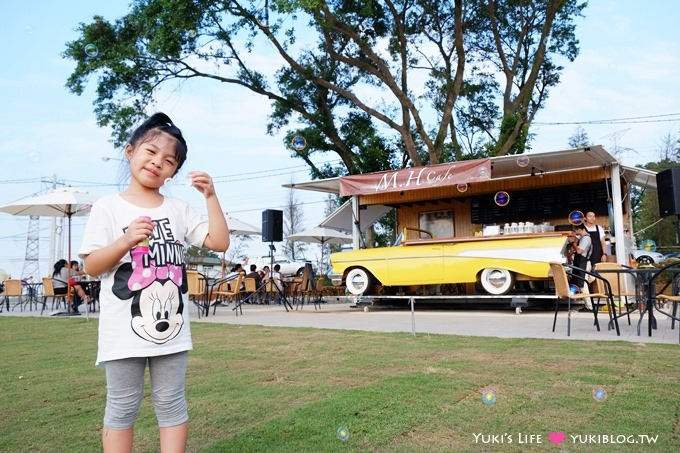 (歇業)新竹復古車景觀咖啡吧【M.H.Cafe(MHcafe)】湖口7-11順遊景點×草皮野餐蹓小孩vs毛小孩都OK!(新竹野餐景點推薦)