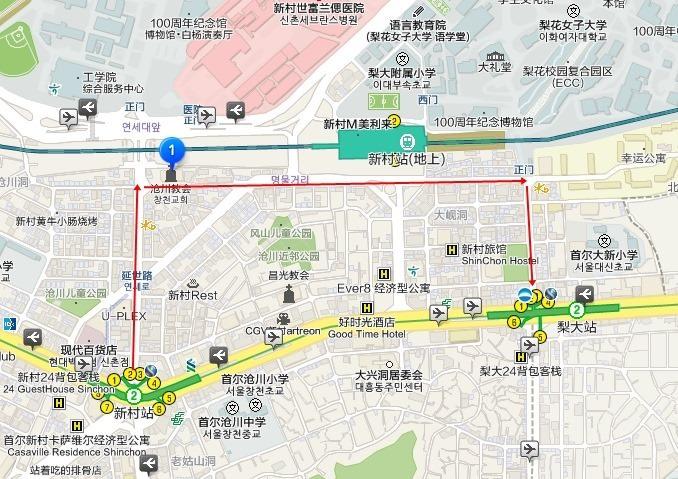 韓國首爾自由行~新村、梨大逛街(梨花大學、Koseny)、來自星星的你梨花開心雞肉串 - yukiblog.tw