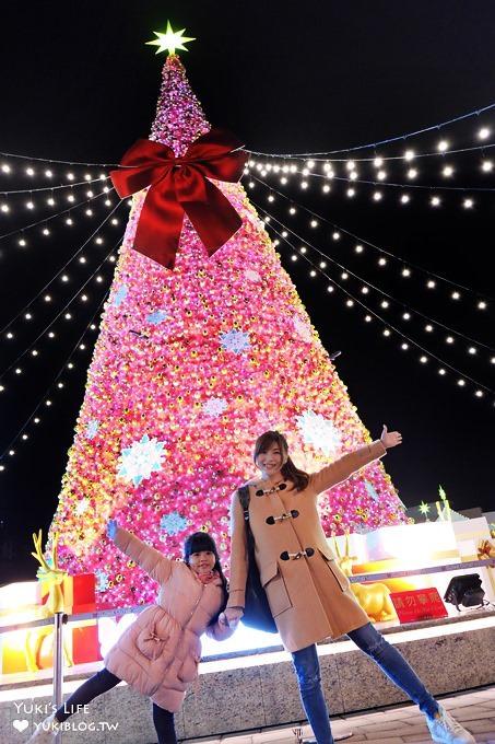 桃園免費親子景點【2017華泰名品城聖誕村】繽紛雪景×耶誕市集雙浪漫~搭捷運/高鐵就到!